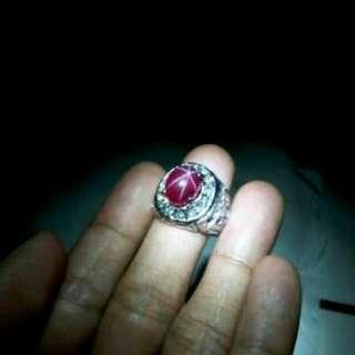 Batu cincin natural mirah star 5