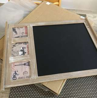 BN The Paper Stone Chalk Board and Photo Frame