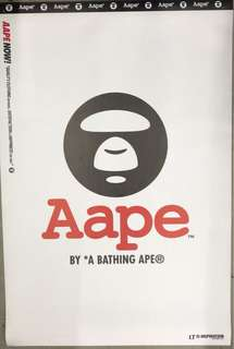 AAPE 特大海報 (厚身布質)60cm x 100cm
