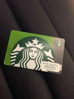 Instock authentic Starbucks korea card
