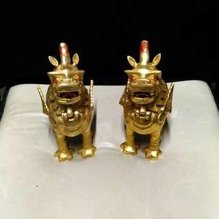 Golden Dragon Figure 20 cm tall 10 width