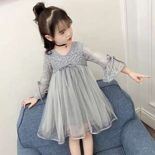 Fashion baby girl Korea style dinner dress