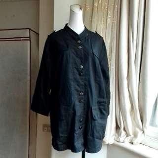 蘿莉安娜 軍式 棉麻上衣外套