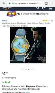 World map watch with moving airplane thing