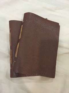 Handmade leather journal A6