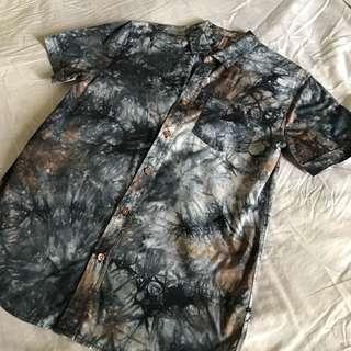 Penshoppe Abstract Print Polo Shirt