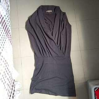 Gray Formal Dress Top