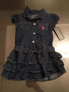 Demin dress and knickers set 2 years