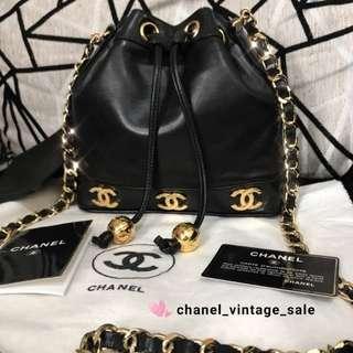 現貨Chanel 超限量mini size 水桶袋24k 6大logo 金波款