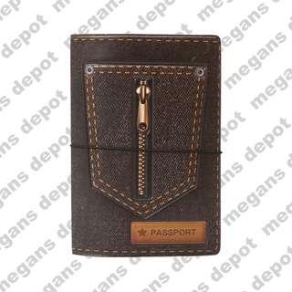 Denim Pocket 3D Passport Holder