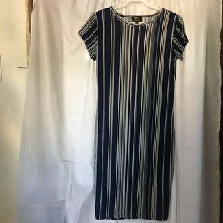 Blue stripes dress
