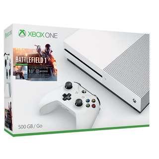 Local Warranty 1TB Xbox One S Battlefield 1 Set
