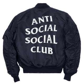Antisocial Social Club Bomber Jacket (DEADSTOCK, RARE)