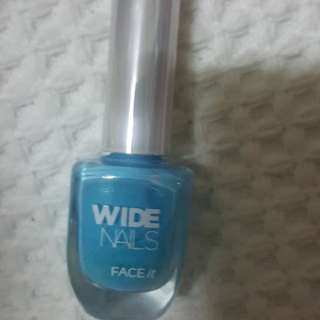 Wide nail The faceshop Face it turquoise