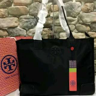 FREE SHIP Tory Burch Packable tote - black