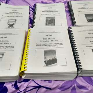 IGCSE O LEVEL PAST YEAR PAPERS (SCIENCE AND MATHS)