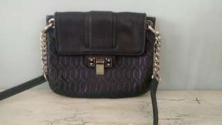 bimba & lola navy quilted leather bag