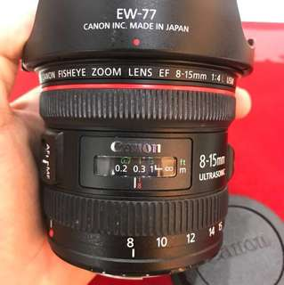 Canon Fisheye Zoom Lens EF 8-15mm F4 L USM