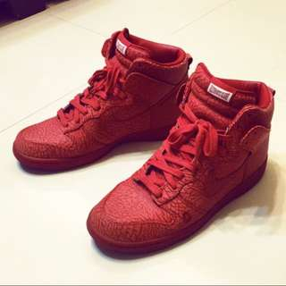 2008 NIKE DUNK HIGH PREMIUM ULTIMATE GLORY CHAVEZ RED 爆裂紋