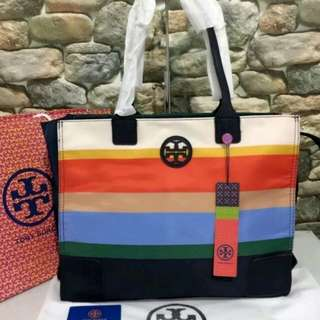 FREE SHIP Tory Burch packable tote -print1