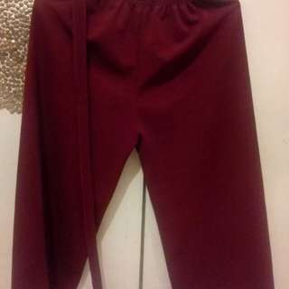 maroon candy pants