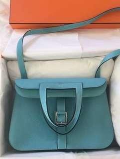 New Hermes Halzan 31 Blue Atoll