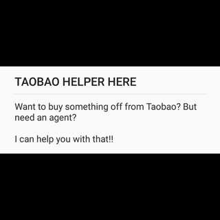 Taobao Helper here