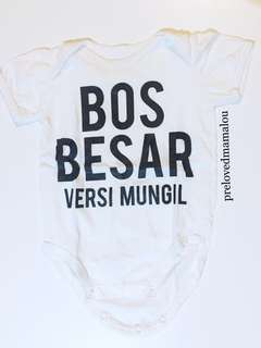 baby jumpsuit bos besar