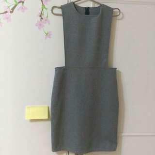 【正韓】氣質灰洋裝