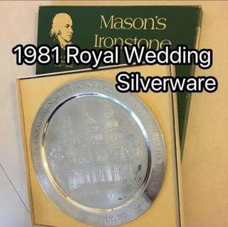 Silverware British Royal Wedding