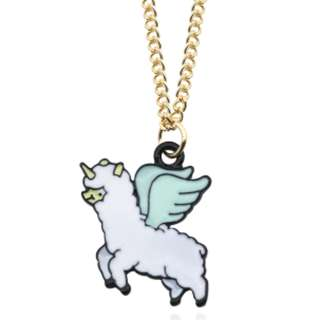 Flying Alpaca Unicorn Pendant Necklace - 1 piece only!