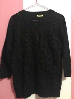 Atasan black fit to L
