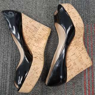 Charles and Keith Peep Toe Wedge shoes