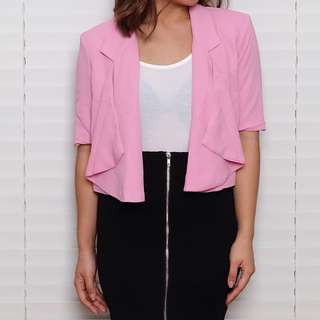 Forever 21 Pink Cropped Blazer