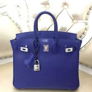 Hermes Birkin 25 電光藍⚡️7T VIP馬蹄印✌🏻年消費300萬以上定制🤟🏻身分象徵❤️Epsom皮