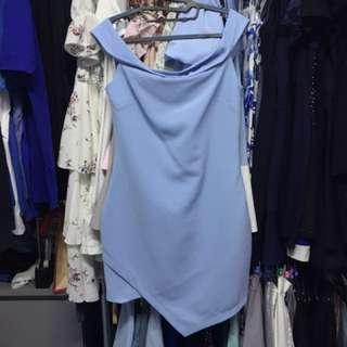 Baby blue Off Shoulder dress