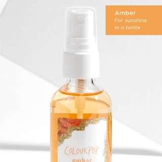 Colourpop Amber crystal setting spray
