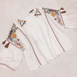 Zara embroidery top (inspired)