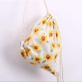 🌻 Sunflower Drawstring Backpack Bag