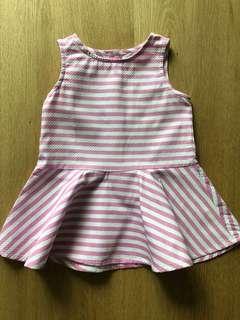 Gingersnaps Tiny Pink Stripe Dress (6 Mos)