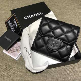 Chanel short leather wallet