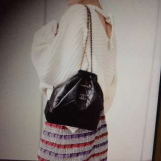 Chanel Gabrielle black backpack small size