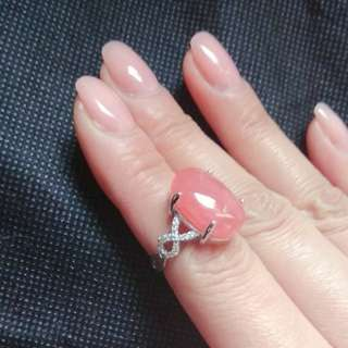 Rhodochrosite Crystal Ring