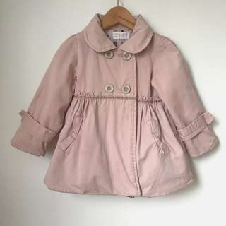 Girls Quilted Coat Size 4