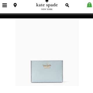 Kate Spade card holder 湖水藍 卡套