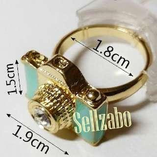 #K47 Rings For Girls Women Woman Female Ladies Girlfriends Accessories Golden Green Camera