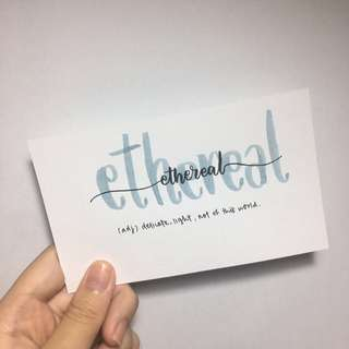 Customisable Watercolour Calligraphy Cards