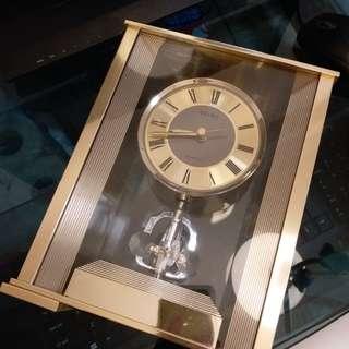 日本SEIKO精工金屬黃銅古董石英時鐘