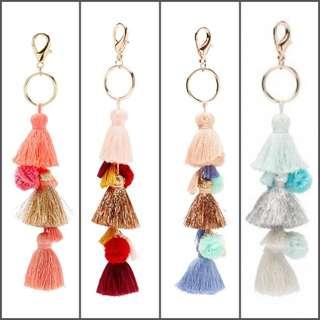 Sportsgirl Tassel Keyring / Bag Charm