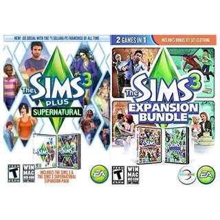 Brand New The Sims 3 DVDs